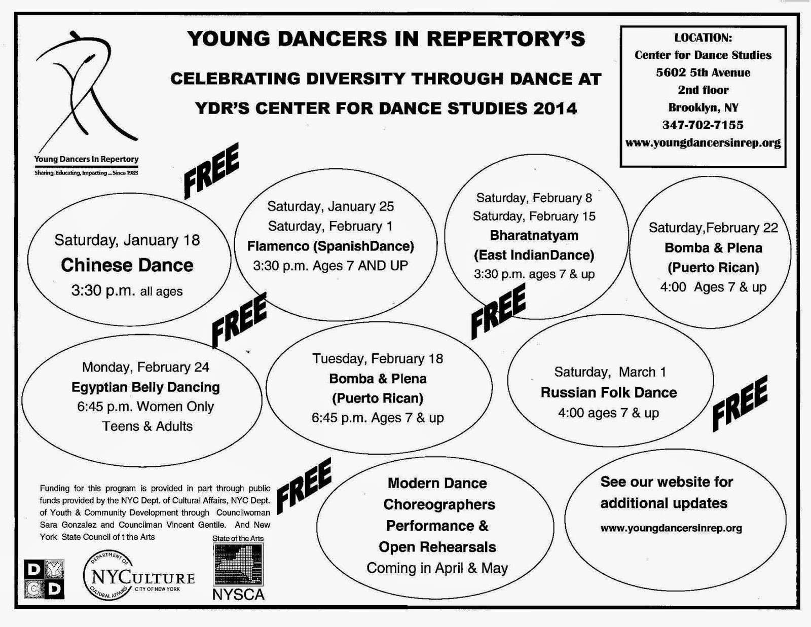 Friends of Sunset Park: Young Dancers in Repertory invites