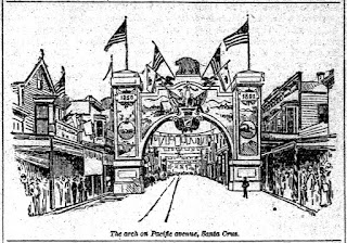 Admission Day Arch 1891