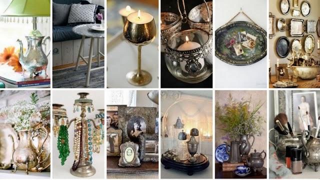 Iδέες & τρόποι για να αξιοποιήσετε παλιά επάργυρα-μπρούτζινα αντικείμενα