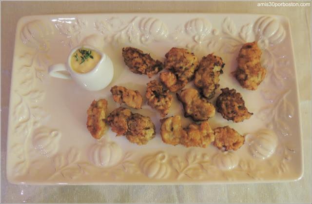 Cena de Acción de Gracias: Ostras Fritas