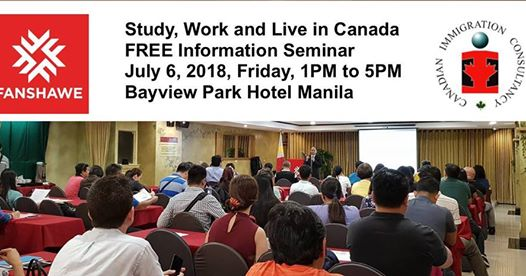 Immigrate Via Study Visa Pathway | FREE Information Session on July 6, 2018 at Bayview Park Hotel
