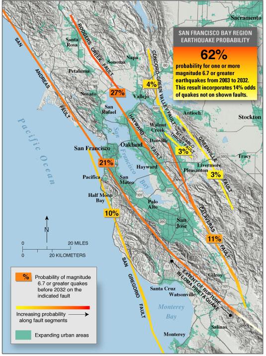 LA FALLA HAYWARD ES LA  MAS PELIGROSA DE CALIFORNIA