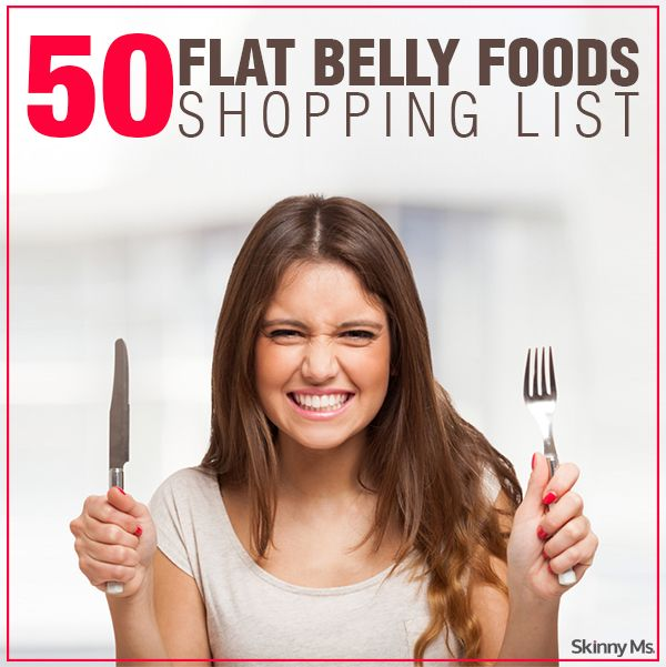 50 Flat Belly Foods Shopping List