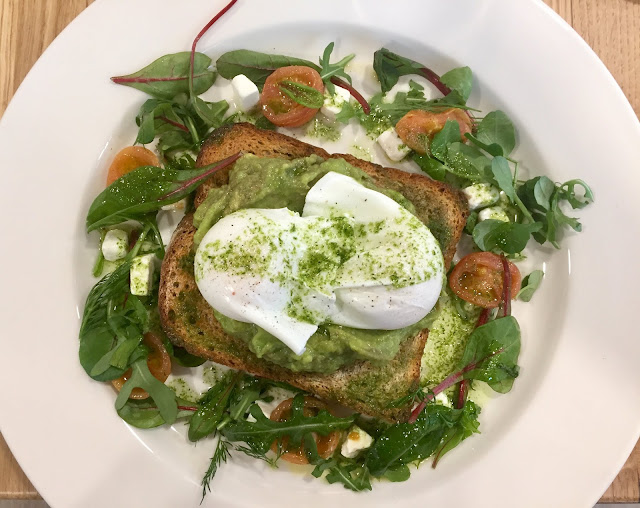 Loudon's breakfast, poached eggs and avocado toast, Edinburgh