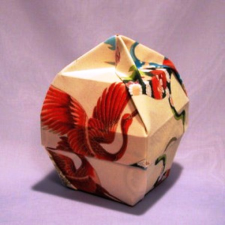 Origami Box Lamp Shaped Bowl Lid With Knob 3d Easy Arts And Crafts For Kids