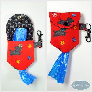 Playful Scottie Dogs Waste Bag Dispenser