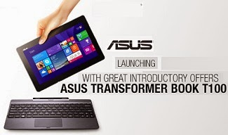 Get Rs.1000 worth Store Credit on Asus T100TA(Touch) Transformer Series (10.1″, 500 GB HDD, 2 GB DDR3, Windows 8) Laptop for Rs.29900 Only