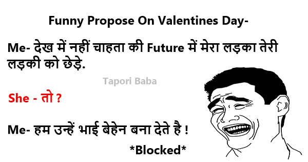 Funny Insulting Propose On Valentines Day
