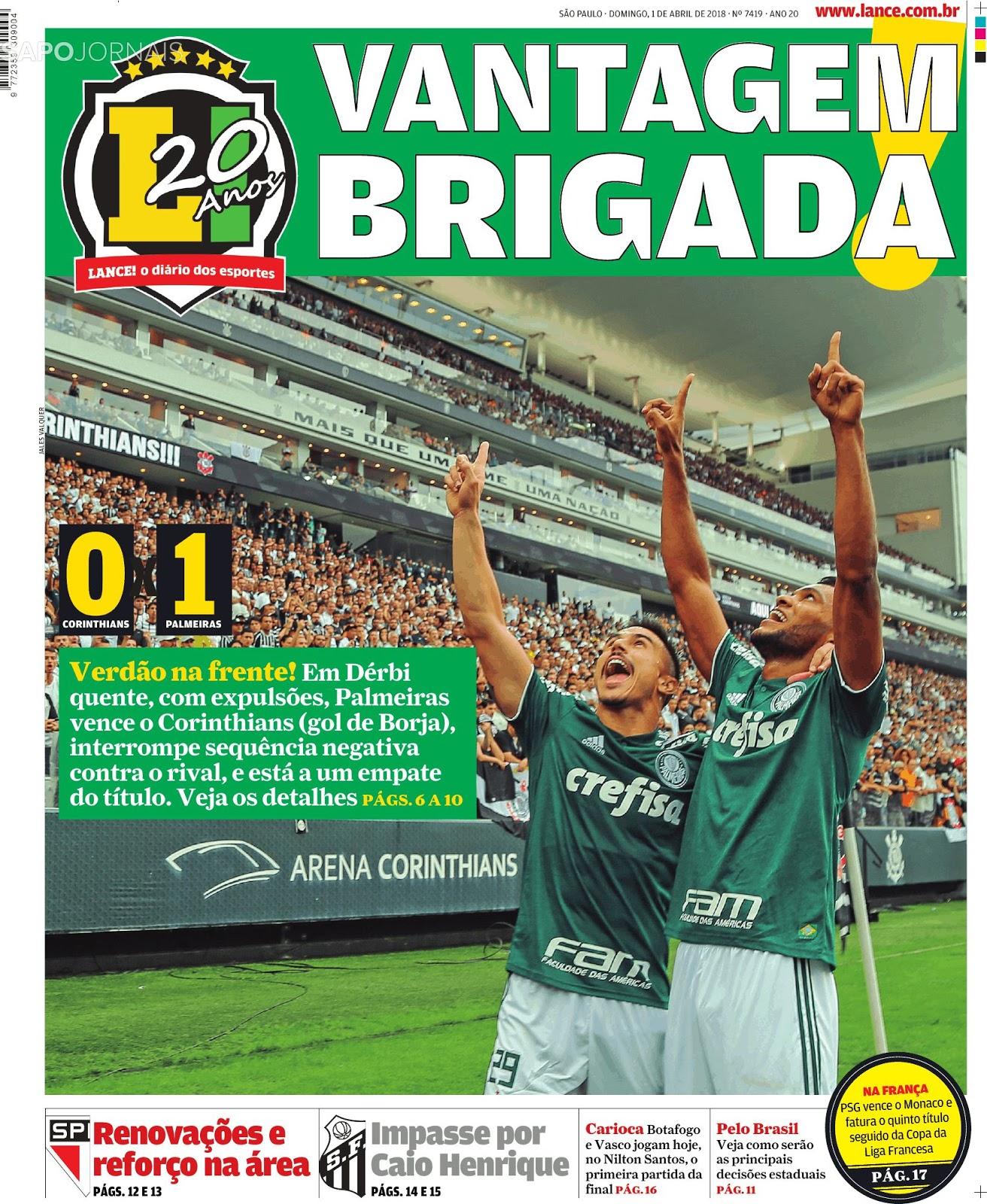 Palmeiras vence Corinthians e larga na frente no primeiro jogo da decisão do  estadual 2018 9bc5153ef8ffd