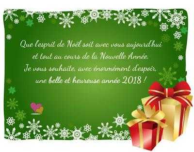 Carte de vœux et meilleurs vœux pour l'an 2018