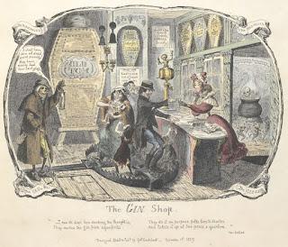 The Gin shop by George Cruikshank