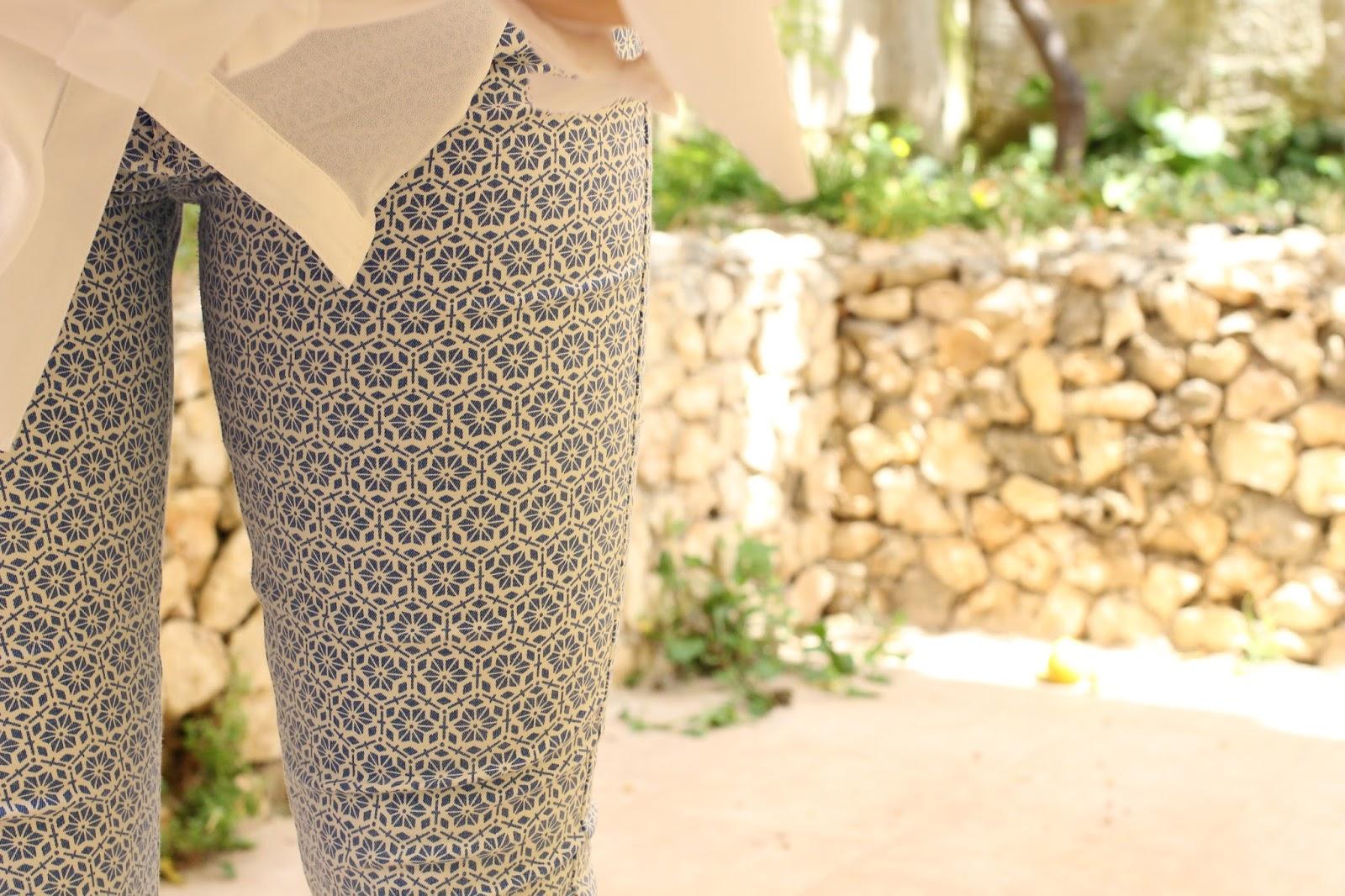Topshop Tile Print Jeans