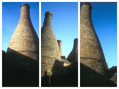 Potteries bottle ovens at Gladstone Pottery Museum, Longton, Stoke-on-Trent