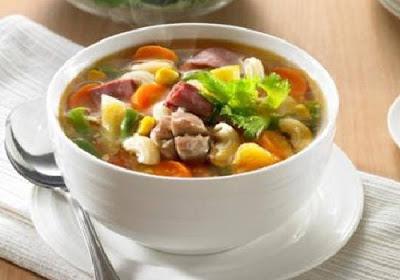 Resep Sup Ayam Bumbu Kemiri