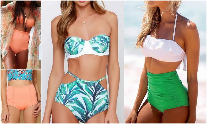 Korkeavyötäröiset bikinit