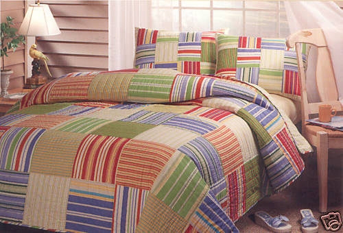 anthropologie sofa ebay retro beds australia pottery barn kids bright stripes bedding | decor look alikes