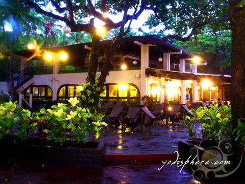 Restaurant inside the Montemar Beach Club in Bataan