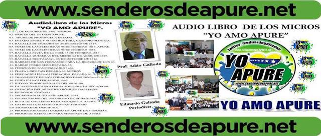 """Se Buscan Donantes Financieros o editoriales que quieran patrocinar edición de AudioLibro: """"YO AMO APURE"""". Español / English."""