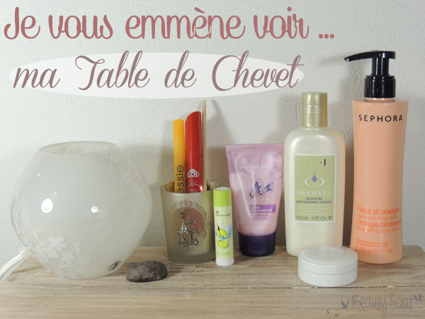 soins indispensables table de chevet