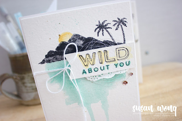 'Hers' with Waterfront + Pieces and Pattern stamp sets - Susan Wong for the Let's Get Hopping Blog Hop