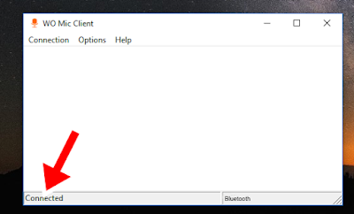 Pengaturan WO MIC menggunakan BLUETOOTH
