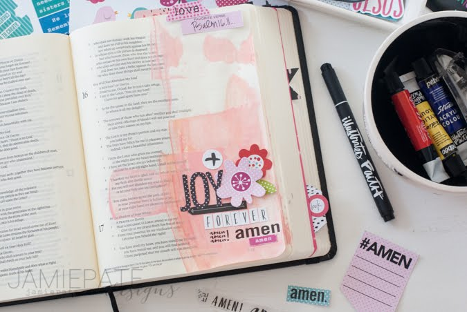 Bible Journaling Joy with Illustrated Faith and Bella Blvd by Jamie Pate  | @jamiepate for @bellablvd  @illustratedfaith