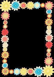 borders frames flower frame colorful flowers floral clipart background simple digital transparent printable scrapbooking border cliparts clip designs meinlilapark colored