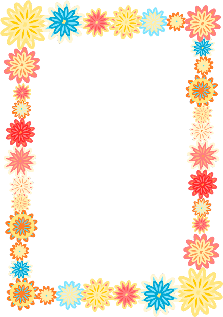 Free Digital Scrapbooking Flower Frames Colorful