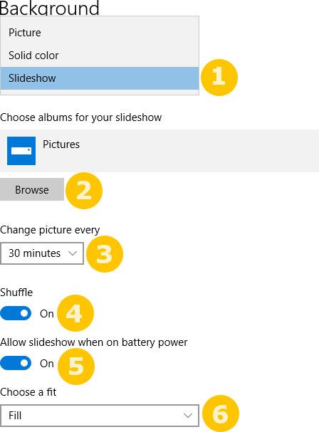 Cara merubah wallpaper secara otomatis di Windows 10