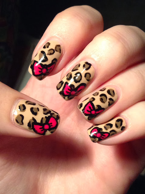 nails by bayles leopard nails with bows
