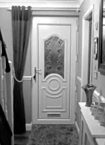 Greyscale pvc door