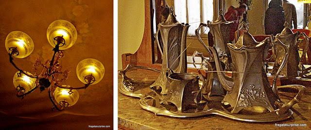lustre e a prataria especialmente desenhados para a Casa Milà, em Barcelona
