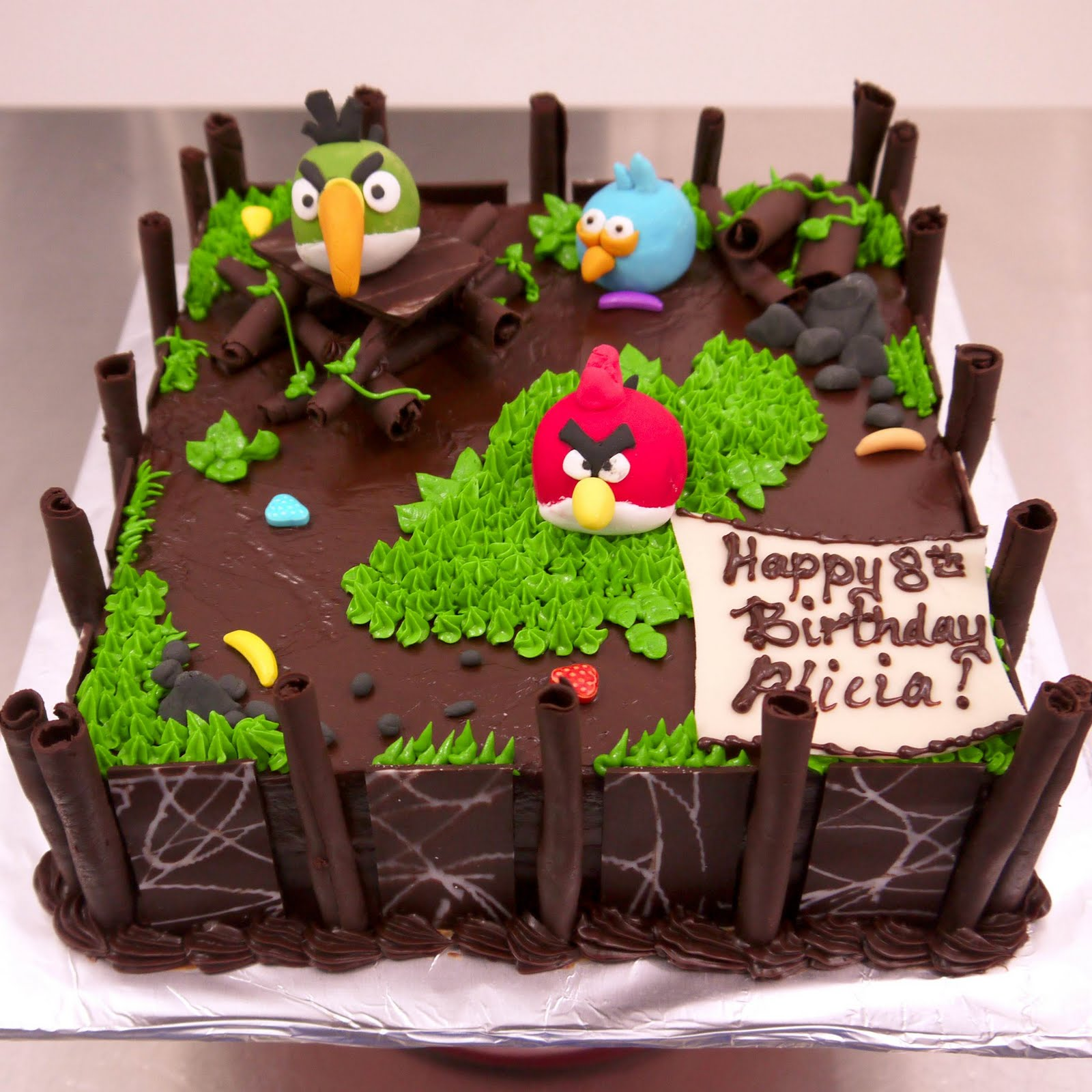 Sweet Indulgence Kuching Angry Birds Birthday Cake