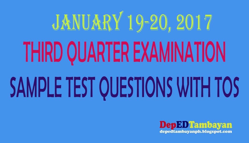 sample science 4th quarterly examination Grade 4 - 4th quarter periodical tests fourth quarter periodical tests for all subjects for grade 4, now available in new and updated links click links below to download each for free.
