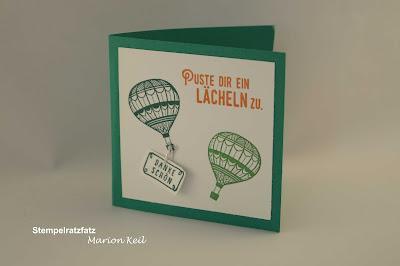 """Dankschönkarte """"Abgehoben"""" Pop-up mit Stampin´ Up!"""