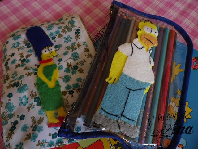 Portalápices paso a paso de Los Simpson