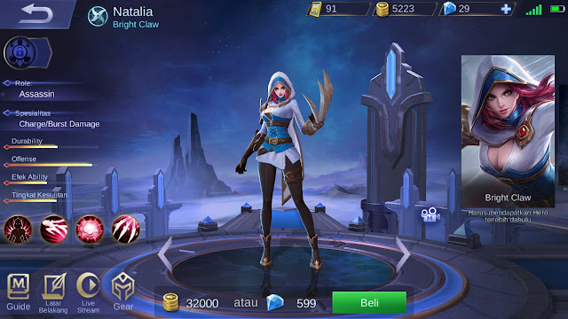 Assasin Terkuat di Mobile Legends Season 11 Natalia