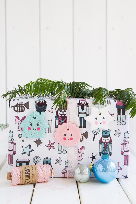 Pfefferminzgruen anh nger f r weihnachtsbaum und for Geschenke aus salzteig