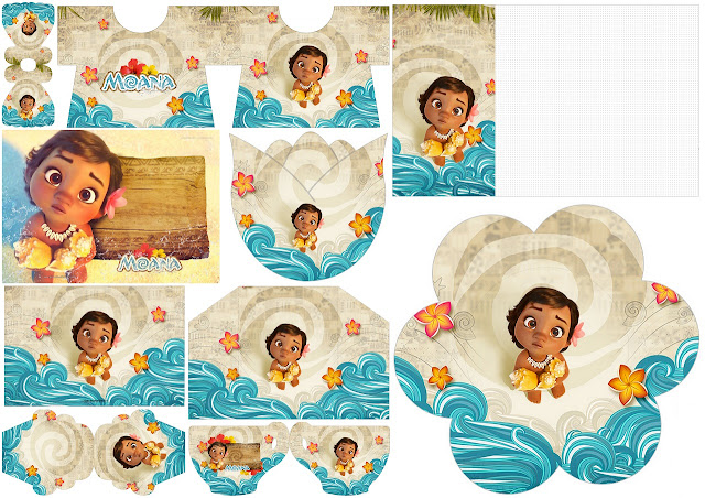 Moana Baby: Free Printable Invitations.