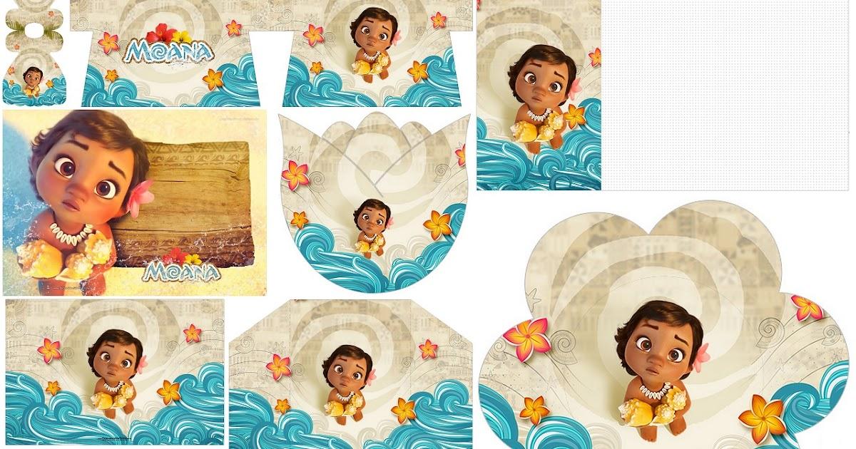 Moana Baby: Free Printable Invitations.