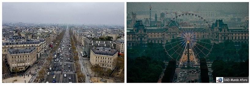 Vista do Arco do Triunfo - Diário de Bordo - 3 dias em Paris