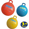 SUESPORT Hopper Ball Kit,Pump Included, 22in/55cm, Red, Hop Ball, Kangaroo Bouncer, Hoppity Hop, Sit and Bounce, Jumping Ball, 2-Size by 3-Colors Available