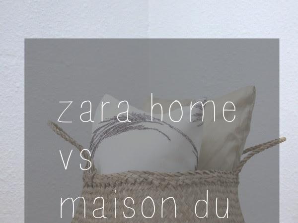 Cestas thailandesas, Zara home vs maison du monde