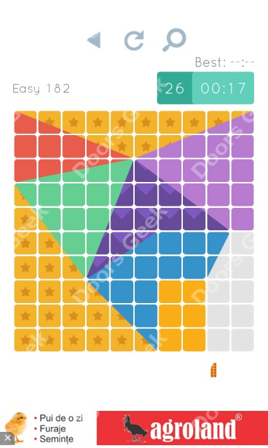Cheats, Walkthrough for Blocks and Shapes Level 182