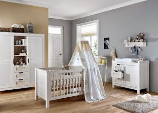 habitación bebé colores neutros