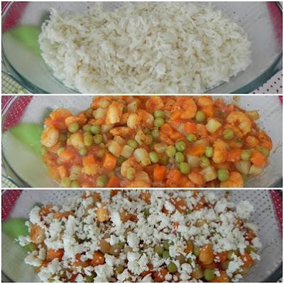 como fazer arroz de forno com camarão