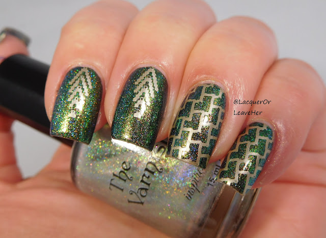 UberChic Beauty 21-02 over The Lady Varnishes Dragon (over Sally Hansen Blacky O undies)