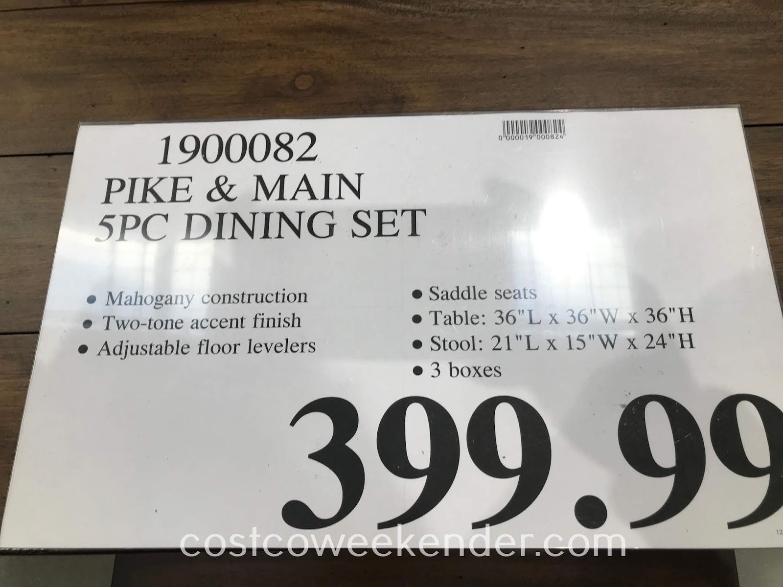 Deal for the Pike and Main 5-piece Counter Height Dining Set at Costco