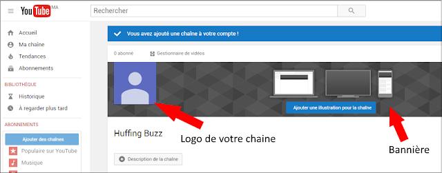 Logo et bannière de la chaîne youtube