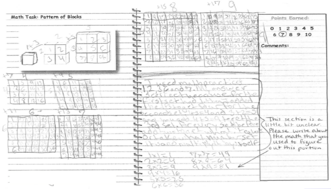 Betta Math: Common Core Student Sample Write-ups
